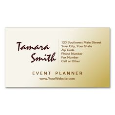 Beautiful event planner business card templates event planner white brown and yellow event planner business card template reheart Gallery