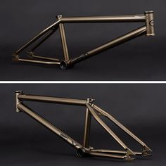 """The 2017 Geo frame in @courageadams signature Metallic Brown colorway and geometry. 20.7"""" and 21"""" top tube lengths 75.5-degree head tube angle 71-degree seat tube angle 9.25"""" stand over height 11.75"""" bottom bracket height 13"""" chainstay length  Landing it Flybikes dealers worldwide now!  #bmx #flybikes #bike #frame #detail #style #design #2017"""