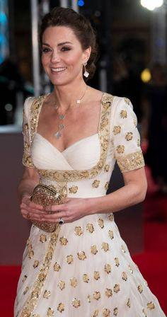 Duke And Duchess, Duchess Of Cambridge, Duchess Kate, Bafta Red Carpet, Kate Middleton Dress, Alexander Mcqueen Dresses, British Academy Film Awards, Royal Albert Hall, Casual Hairstyles