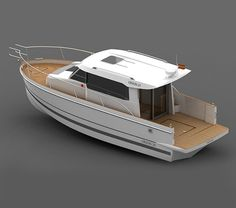 Orion 29 Utility Boat, Small Yachts, Old Sailing Ships, Cabin Cruiser, Home Upgrades, Boat Design, Small Boats, Power Boats, Boat Plans