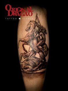 Saint George Tattoo |  Religious Tattoo  |  Original Dragão Tattoo Studio - BH