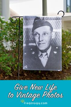Honor those who served with a photo garden flag featuring their photo! Great for both digital files or vintage photos. Easy to create in minutes using our online designer!