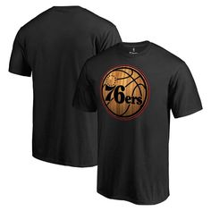 Philadelphia 76ers Fanatics Branded Hardwood T-Shirt - Black