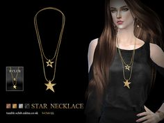 Necklace N05 by S-Club LL at TSR via Sims 4 Updates