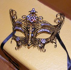 Venetian Masquerade Masks | Venetian mask by ~demmigoddess on deviantART-- and more gems. royal blue metal