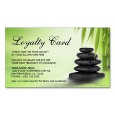 Day Spa Or Massage Salon Loyalty Cards Double-Sided Standard Business Cards (Pack Of 100)