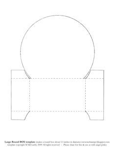 Big circle gift box template (5.5 inches): Template & Printable Patterns - Splitcoaststampers