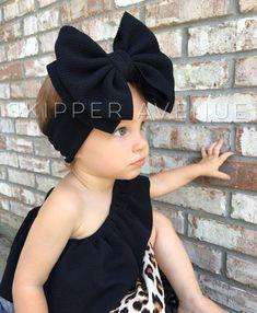 Best Indoor Garden Ideas for 2020 - Modern Baby Turban, Head Wrap Headband, Bow Headbands, Baby Girl Bows, Girls Bows, Nylons, Big Bows, Baby Girl Fashion, Head Wraps