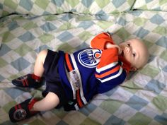 Never too young to be an #Oilers fan - Junior Torkkeli