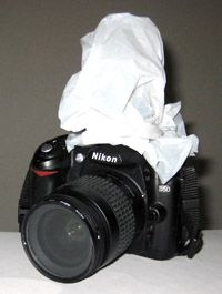 Plastic Grocery Sack over Flash to Diffuse Light When Taking Pictures - Acts as a Lightbox
