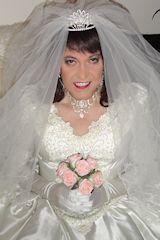 Glamorous cross dressing bride