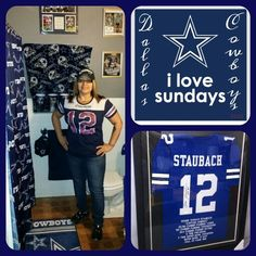 ☆ I love the Dallas Cowboys ... still have more to do in my bathroom but it's coming along ☆