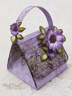 Folded handbag card