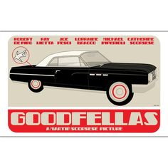 Goodfellas movie poster by claudiavarosio on Etsy.  Love the trunk detail.