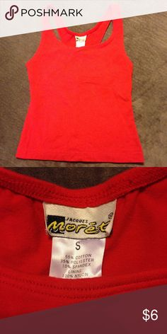 Women's athletic top Jacques morēt small Women's Red Jacques moret  athletic top size small. From a smoke free home with fur baby 🐶 Jacques Moret Tops Tank Tops