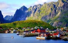 Norway is one of the most beautiful places in Earth. Norway has more natural wonders then we can count. Norway has stunning cities and fascinating places. Lofoten, Boat Wallpaper, Places To Travel, Places To Visit, Persona Feliz, Beautiful Norway, Fishing Villages, Travel And Tourism, Countries Of The World