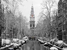 En dan gaat het ook weer vaker sneeuwen en vriezen in Amsterdam
