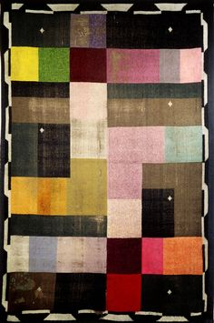 * Carpet with Black Background 1923 Ida Kerkovius (1879-1970) she wove carpets for Walter Gropius and Paul Klee, who adored her work.