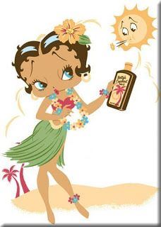 Happy Summer! For more Betty Boop graphics and greetings, go to: http://bettybooppicturesarchive.blogspot.com/ Hula Betty Boop wearing a grass skirt #bettyboop