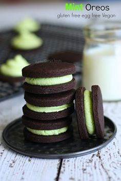 vegan: mint oreos...