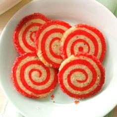 Cherry Pinwheel Cookies Recipe from Taste of Home
