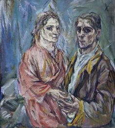 Oskar Kokoschka, ca 1912, Double Vision (Oskar Kokoschka and Alma Mahler), oil on canvas.