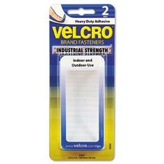 "Velcro Products - Velcro - Industrial Strength Sticky-Back Hook & Loop Fastener Strips, 4 x 2, White - Sold As 1 Pack - 50% stronger than standard hook and loop fasteners. - 2"" width for firmer positioning. - Waterproof adhesion, even when submerged. - Indoor or outdoor use. - by Velcro. $6.69. Velcro - Industrial Strength Sticky-Back Hook & Loop Fastener Strips, 4 x 2, White - Sold As 1 Pack50% stronger than standard hook and loop fasteners. 2"" width offers fi..."