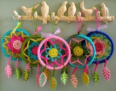 diy birds on branch hook: glue birds to a branch, paint over everything in one color.
