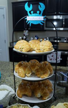 Crabwiches at a Cinderella, Ariel, Anna and Elsa birthday party! See more party planning ideas at CatchMyParty.com!