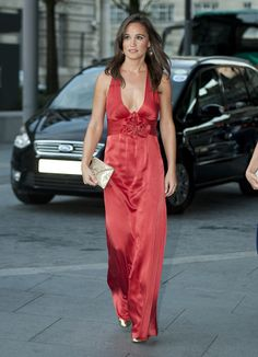 Pippa glowed at the Boodles Boxing Ball in a red gown by Temperley. via StyleList
