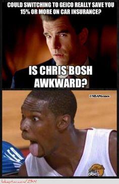 Is Chris Bosh Awkward? - http://hoopsternation.com/meme/is-chris-bosh-awkward