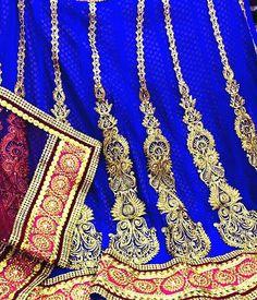 Royal blue lehanga...beautifulllll....... Courtesy :Escala Couture