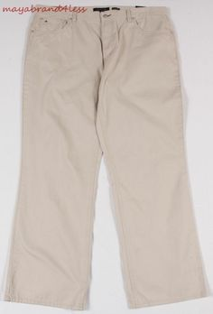 TOMMY HILFIGER OUTLET PRICE MENS CORE FREEDOM 5 POCKET PANTS CEMENT SZ 40 X 32 #TOMMYHILFIGER #DressFlatFront