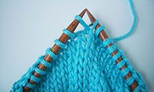 Paired Increases for Knitting. This one is the right leaning KLL. The KRL leans left. How to remember: the needle tip that is used to pick up the stitch is the direction it will lean.