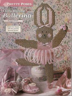 Lady Bunny Ballerina Plastic Canvas by needlecraftsupershop, $3.50