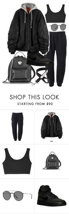 """""""Untitled #21929"""" by florencia95 ❤ liked on Polyvore featuring adidas Originals, Yeezy by Kanye West, Versace, Ray-Ban, NIKE and Givenchy"""