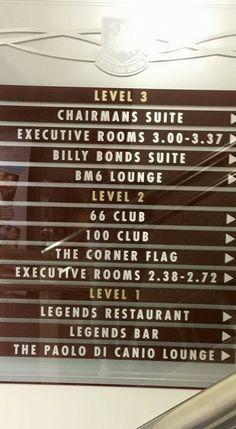 Legends Restaurant, West Ham United Fc, Executive Room, The Unit