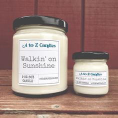 Walkin' on Sunshine - Glass Jar Candles