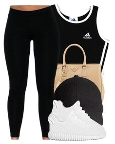"""Untitled #488"" by princess-miyah ❤ liked on Polyvore featuring adidas, Prada and H&M"