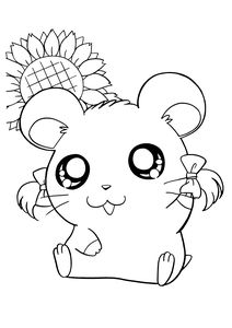Free Adult Coloring Pages, Cute Coloring Pages, Cartoon Coloring Pages, Animal Coloring Pages, Free Coloring, Coloring Books, Hamtaro, Cute Cartoon Characters, Cartoon Kids