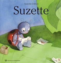 Boek : Suzette Het kleine lieveheersbeestje Suzette wil tekenares worden en tekent daarom alles dat ze onderweg tegenkomt.