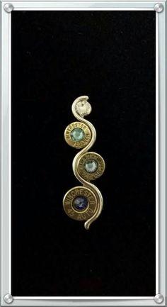 Wavy bullet jewelry necklace by JandSStuff on Etsy Ammo Jewelry, Brass Jewelry, Leather Jewelry, Jewelry Art, Jewelry Necklaces, Jewelry Design, Leather Bracelets, Leather Cuffs, Gothic Jewelry