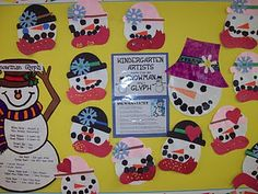 Here is a snowman glyph I have done with my class in the past. I changed the key up a little and I am going to use it this week with a class. Art Classroom, Classroom Themes, Classroom Activities, Art Activities, Kindergarten Art Projects, Kindergarten Fun, School Holidays, School Fun, School Ideas