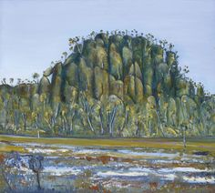 """Fred Williams (Australian, Hanging Rock, Oil on canvas, x cm. Contemporary Landscape, Abstract Landscape, Landscape Paintings, Landscapes, Australian Painting, Australian Artists, Fred Williams, Nz Art, Impressionist Artists"