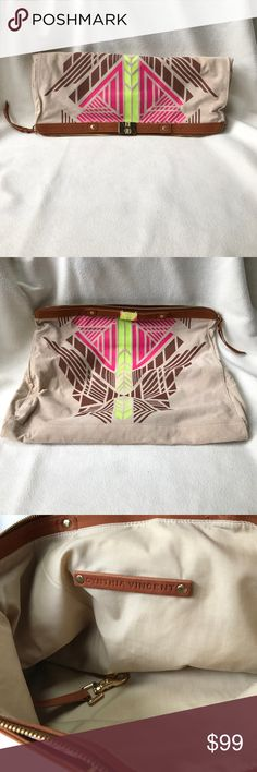 Cynthia Vincent fold over clutch. Brand new. Received as a gift from Neiman Marcus. Not really into clutches. Huge with lots of room. Great on trend colors. 💯% leather. Cynthia Vincent Bags Clutches & Wristlets