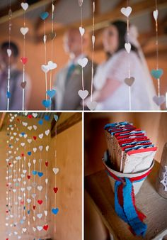 Trauung vor einen selbstgemachten Herzvorhang, DIY Hochzeit in Südafrika by iz-photography