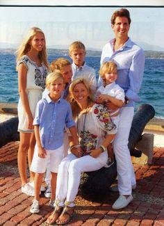 Crown Prince Pavlos,Crown Princess Marie-Chantal,Princess Maria-Olympia,Prince Constantine,Prince Achileas,Prince Odysseas & Prince Aristidis of Greece