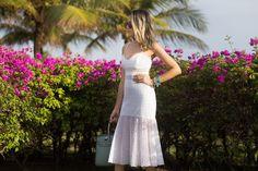 The Leila's Blog: Vestido branco e acessórios turquesa!