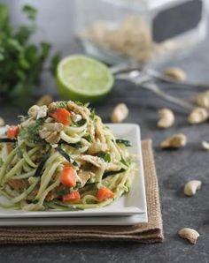 Thai Zucchini Noodles Paleo Recipe
