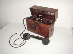 GERMAN ARMY WWII WW2 original field phone Norwegian reissue